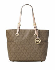 MICHAEL KORS Jet Set East West Tote in Signature Mocha