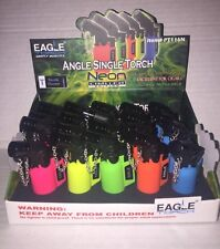 20 Eagle Torch Lighter NEON Windproof Angle  Butane Refillable DISPLAY INCLUDED