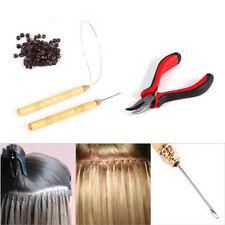 Micro Ring Bead Pulling Hoop Loop Feather Threader UK Stock Hair Extension Tool