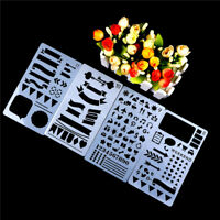 Drawing Template Layering Stencil Painting Scrapbooking Card Craft Tool G$
