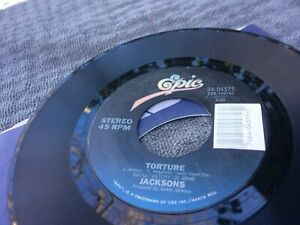 THE JACKSONS TORTURE ~ INSTRUMENTAL - WITH TITLE STRIP V 7 45 CG