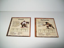 Milton Bradley HEROQUEST Hero Quest Replacement Piece Character Card Lot