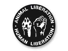 "Pin Button Badge Ø25mm 1"" Logo ALF Animal Liberation Front"