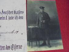 WW1 German iron cross certificate
