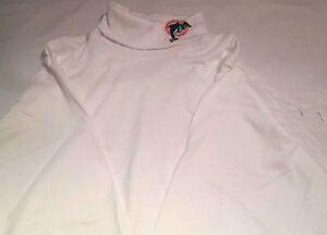 Miami Dolphins Youth T-Shirt Large Long Sleeve Turtle Neck White NFL Majestic