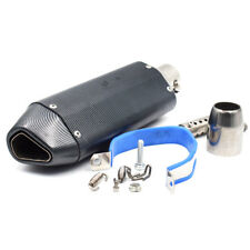Motorcycle Carbon Fiber Exhaust Muffler Pipe & Removable DB Killer 38-51mm Nice