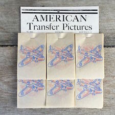 Original WWII 1940s PATRIOTIC DIMESTORE TRANSFERS Transfer Decal STORE DISPLAY