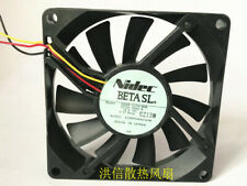 1PC Nidec 8015 D08R-12TH 06B DC12V 0.17Amp 8CM 3-wire silent cooling fan