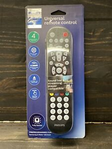 Philips 4 Device Elite Backlit Universal Remote Control - Brushed Black New