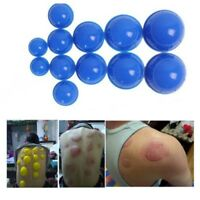 12x Silicone Medical Vacuum Massager Cupping Cups Therapy Anti Cellulite 3 Color