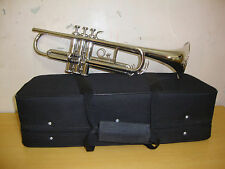 **New Elegant Deluxe Quality CROME Bb flatTrumpet Free case+Mouthpiece+Free Ship