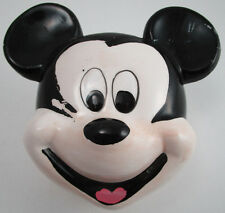 Vintage Ceramic Mickey Mouse Disney Co Hand Painted Canister Lid Top White Black