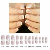 96Pcs False Nail Short French Art Design Full Cover Gel Nails Acrylic Nails Tips