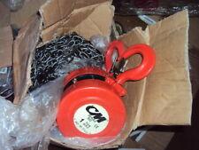 "Cm 2210 Manual Chain Hoist, 2000 lb. Capacity, 15 ft. Hoist Lift 1-1/32"" Hook"