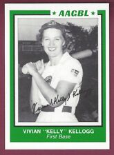 Vivian Kellogg, Female Professional Baseball Player Signed Trading Card Preprint