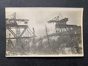 RARE c1910 ALASKA RPPC BUILDING RAILROAD L@@K! COPPER RIVER NORTHWESTERN RAILWAY