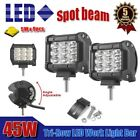 "2x Tri-Row 45W 4"" INCH Led Work Light Bar Spot Offroad 4WD ATV Jeep Truck Suv"