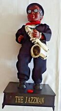 The Jazzman, Figurine, Musical/Motion trombone jazz player. Works!