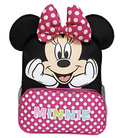 1 Disney Junior Minnie Dots Adorable Backpack With Front Zipper Pocket # 20089