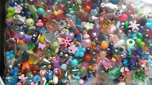 Job lot 250 grams Of mixed Plastic/Acrylic Beads In Assorted Colours Kids Crafts