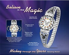 Bradford Exchange- Mickey Mouse Through The Years Rotating Watch*Crystals NWOT-*