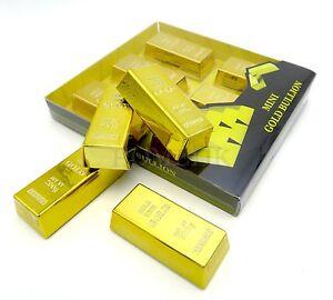Gold Bullion Magnet / Paper Weight 6 Mini Bar fridge holder table decor gift