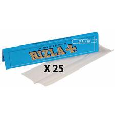 100% ORIGINAL RIZLA BLUE KING SIZE SLIM X25 SMOKING CIGARETTE ROLLING PAPERS