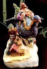 DEPT 56 SANTA & FRIENDS CHRISTMAS DELIVERY hand painted Vintage Snow Village EUC