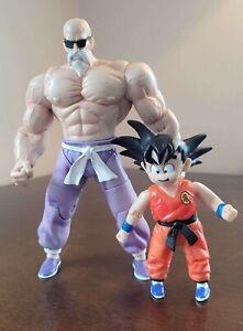 "2003 Jakks Pacific Dragon Ball 6"" Action Figure Super Master Roshi Rare and Goku"