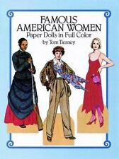 Famous American Women Paper Dolls in Full Color by Tom Tierney (1987, Paperback)