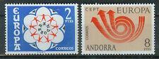 Andorra  Briefmarken 1973 Europa Mi.Nr.84+85 ** postfrisch