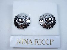 Earrings with Nr logo 0881 Nina Ricci Rhodium Plated Clip