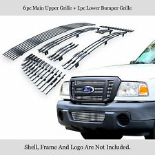 Stainless Steel Chrome Billet Grille Combo Fits 2006-2012 Ford Ranger FX4/XL/XLT