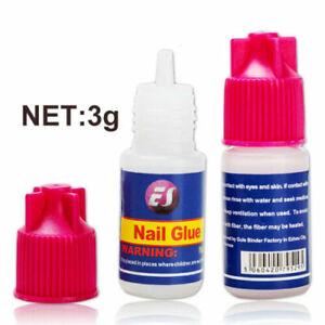Nail Glue 3G Extra Strong Clear Strong Adhesive Acrylic False Nails Tips Art UK