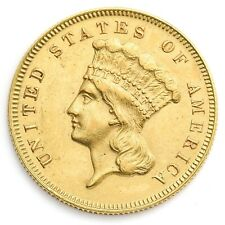 1878 $3 Dollar Gold Uncirculated
