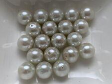 85 Stück Glaswachsperlen 10 mm moos grün Perlen basteln Schmuck Perlen V97