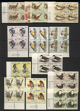 Australia 1978 Birds Stamps Series 1 Blocks x 4 Used