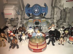Large lot of Star Wars Playskool Galactic Heroes Figures & Vehicles