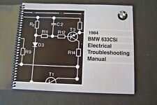 1984 Bmw 633csi Owners Electrical Troubleshooting Service Manual E24 Parts new