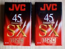 2 JVC SX 45 Minute VHS-C Compact Camcorder Video Tape Cassette sealed