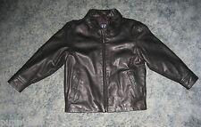 Boys Gap Black Genuine Leather Jacket Size S (5-6)
