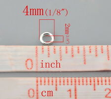100pcs 4mm silver plated soldered closed jump rings jewellery making findings