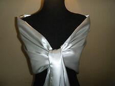 Silver/Grey Soft Satin Large Shawl/Wrap/Stole/Bolero/Pashmina/Bolero/Scarf New