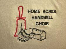 HOME ACRES HANDBELL CHOIR vtg polo shirt XL embroidery church Whang Sports