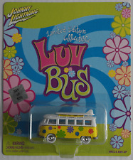 "Johnny White Lightning – VW T1 Samba gelb/weiß ""Luv Bus"" mit Surfboards Neu/OVP"