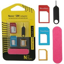 UNIVERSAL 5 in 1 HANDY KARTENLESER Nano Sim Karten Adapter Set Nadel TABLET Z10