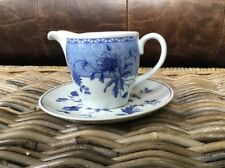Wedgwood Home Milk Creamer Jug With Saucer Blue And White
