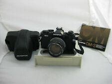 Rare Olympus OM-3 in excellent condition w Zuiko 50mm 1.4 case, manual front cap