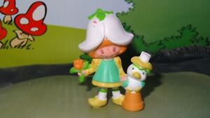 Strawberry Shortcake Mint Tulip & Marsh Mallard Duck Vintage Figurine Miniature