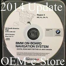 2000 to 2004 Range Rover VW Phaeton BMW Navigation CD Map #5 Cover MS AL GA FL
